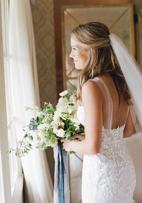 Wedding Bouquet, Bridal Bouquet, Something Blue, Wedding Dress, Getting Ready Photos, Virginia Wedding, Pippin Hill Wedding