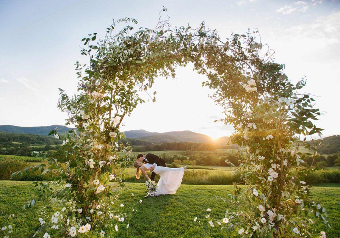Ceremony Decor, Floral Arrangements, Wedding Flowers, Pippin Hill Wedding, Virginia Wedding, Wedding Decor, Ceremony Decor Ideas, Wedding Arch, Floral Arch, Wedding Greenery