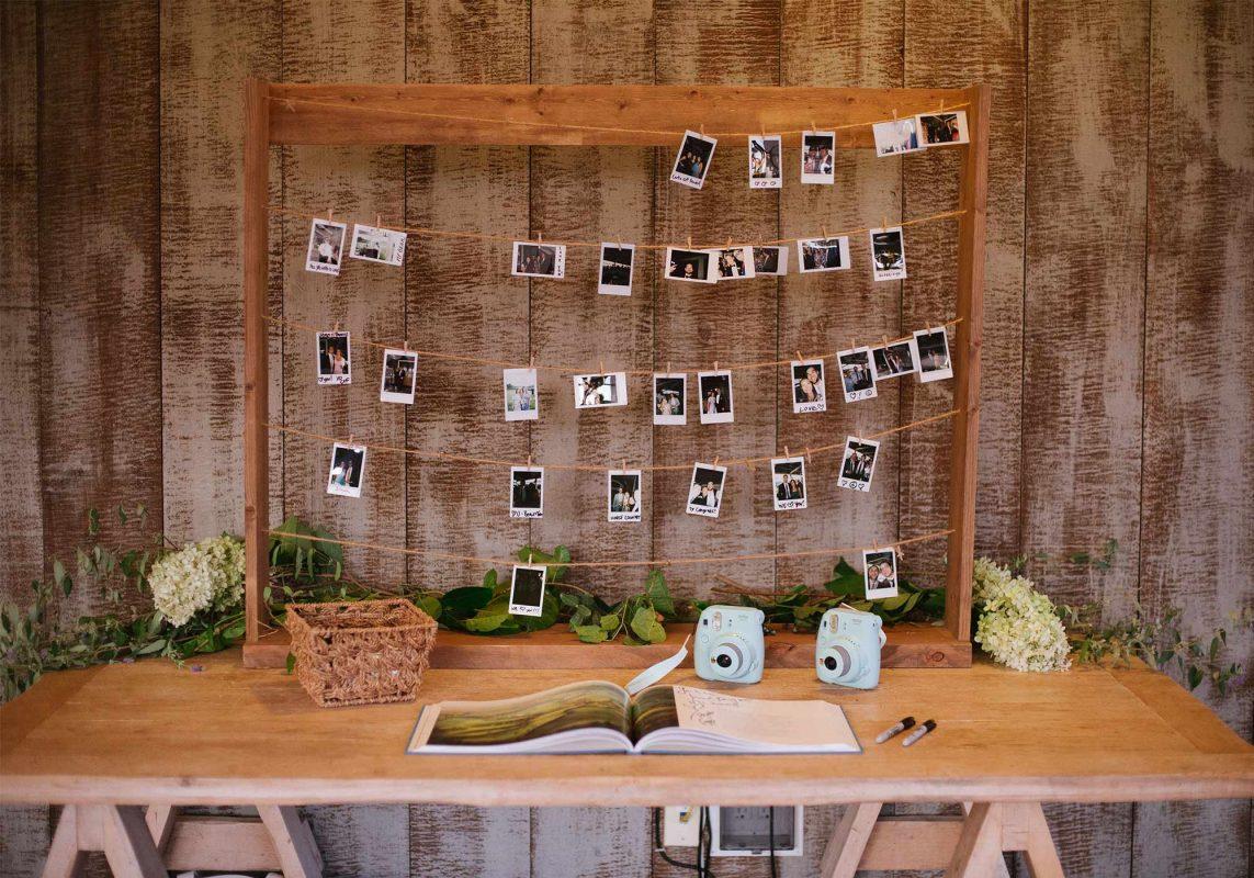 Wedding Guest Book, Guest Book Ideas, Wedding Photos, Polaroid Wedding Photos, Welcome Table Ideas, Pippin Hill Wedding, Virginia Wedding